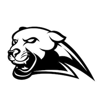 Czarno-biała maskotka panther