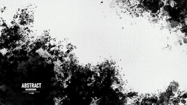 Czarno-białe abstrakcyjne tło tekstury farby grunge