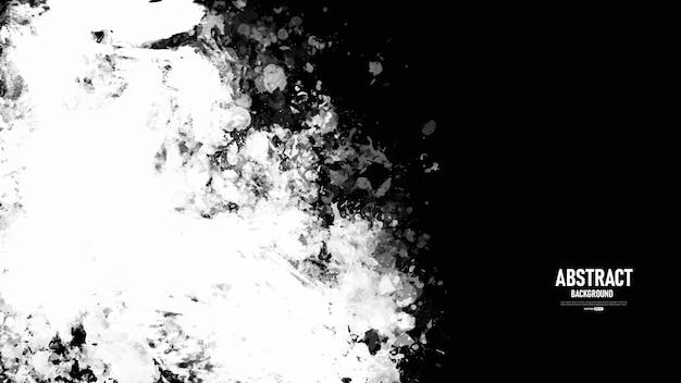 Czarno-białe abstrakcyjne tło z teksturą grunge