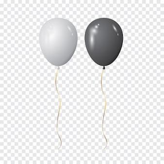 Czarno-białe balony