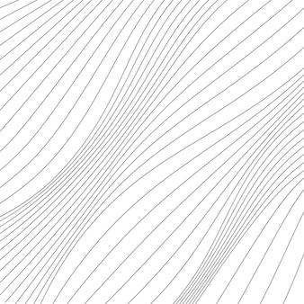 Czarno-białe gładkie faliste paski w tle
