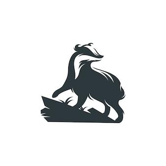 Czarno-białe logo badger