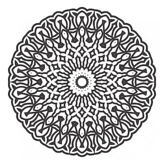 Czarno-białe mandale kolorowanka