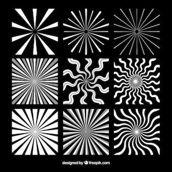Czarno-białe opakowanie różni sunburst