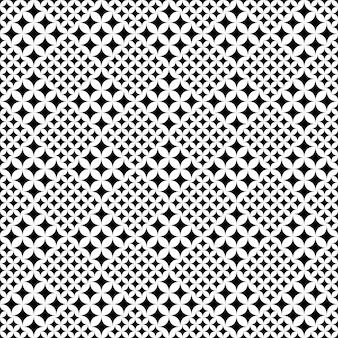 Czarno-białe streszczenie tło wzór zakrzywione gwiazdy