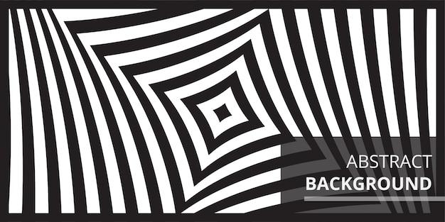 Czarno-białe tło fali sztuki optycznej