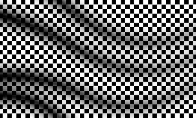 Czarno-białe tło flagi w kratkę. zaprojektuj swoją tapetę.