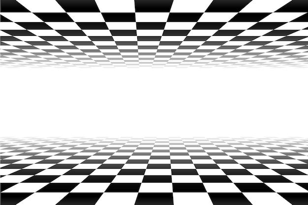 Czarno-białe tło kratkę perspektywy