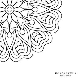 Czarno-białe tło mandali