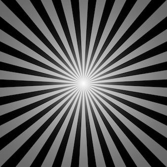 Czarno-białe tło sunburst