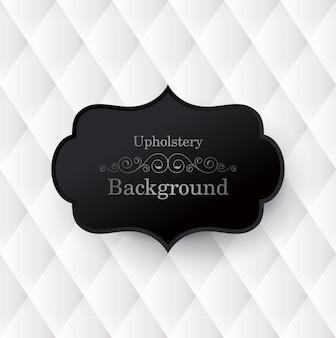Czarno-białe tło tapicerki.