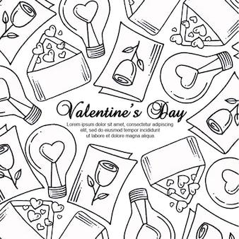 Czarno-białe tło valentine