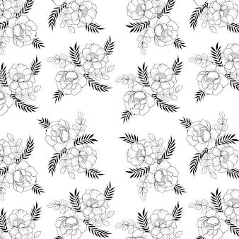 Czarno-białe tło wzór valentine