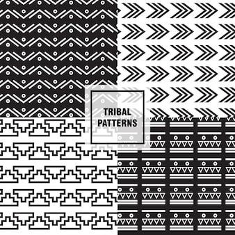 Czarno-białe wzory plemienne
