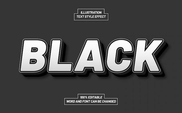Czarno-biały efekt stylu tekstu