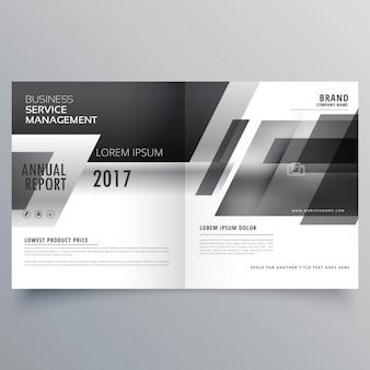 Czarno-biały motyw stylowy magazyn stronicowa broszura szablon