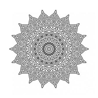 Czarno-biały okrągły ornament