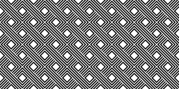 Czarno-biały pasek minimalny vintage wektor wzór szablonu
