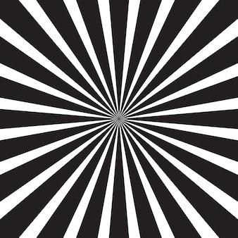 Czarno-biały streszczenie sunburst