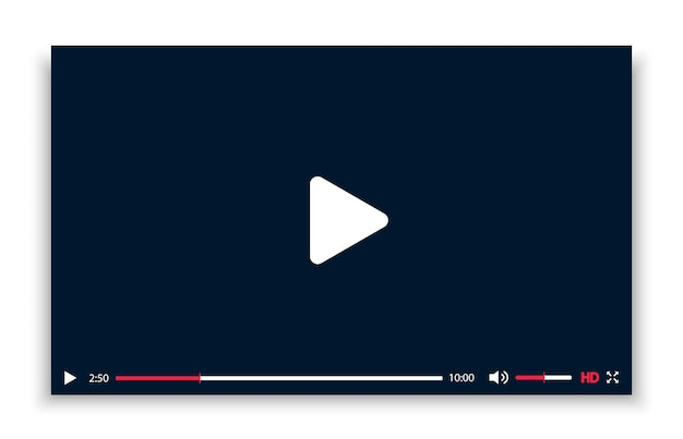 Czarno-biały szablon odtwarzacza wideo z cieniem