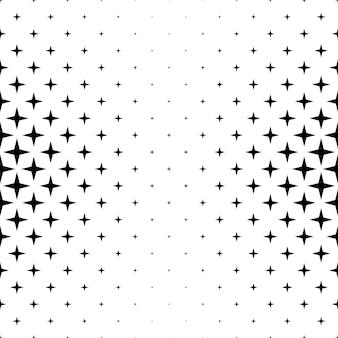 Czarno-biały wzór gwiazdy - abstrakcyjne tło wektor z geometrycznych kształtów