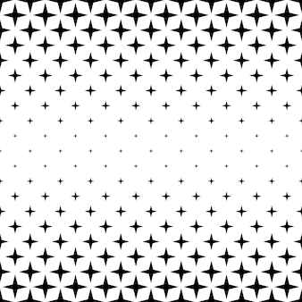 Czarno-biały wzór gwiazdy - wektor abstrakcyjne tło graficzne z kształtów geometrycznych