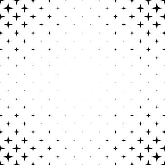 Czarno-biały wzór gwiazdy