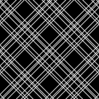 Czarno-biały wzór kratki w kratkę czarny piksel