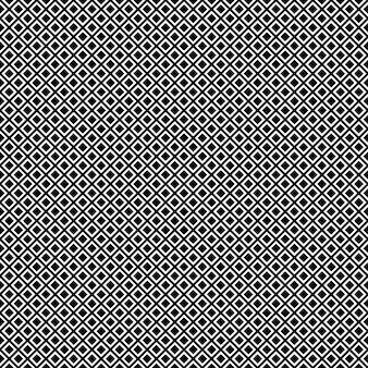 Czarno-biały wzór kwadratowy bezszwowe tło