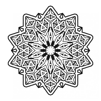 Czarno-biały wzór ornamentu w stylu mandali