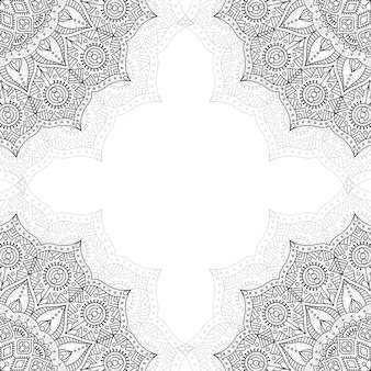 Czarno-biały wzór ozdobny.