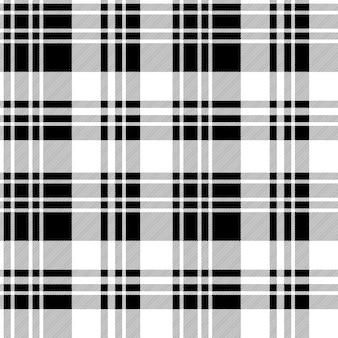 Czarno-biały wzór tekstury tkaniny sprawdzić wzór