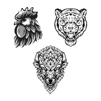 Czarno-biały wzór zwierzęcy