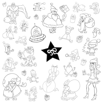 Czarno-biały zestaw świąteczny