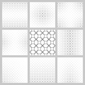 Czarno-biały zestaw wzorca siatki elipsy