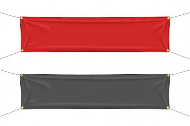 Czarno-czerwony materiał z zakładkami