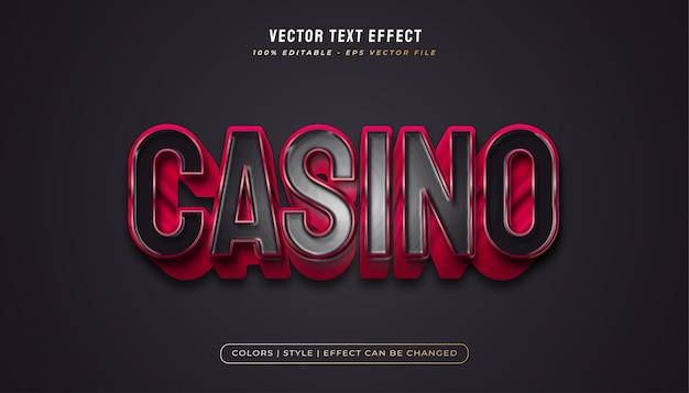 Czarno-czerwony pogrubiony styl tekstu z realistyczną fakturą plastiku i wytłoczonym efektem