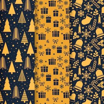 Czarno-złota kolekcja świątecznych wzorów