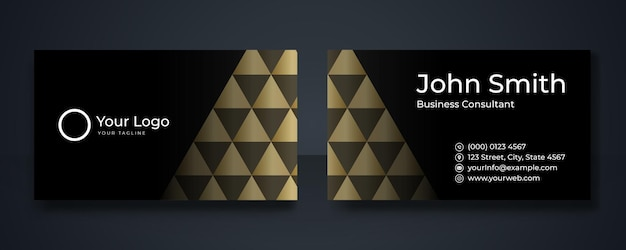 Czarno-złota luksusowa wizytówka premium. profesjonalne szablony wizytówki. eleganckie abstrakcyjne szablony kart idealne dla twojej firmy holdingowej. zestaw szablonów projektów wektorowych