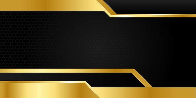 Czarno-złote abstrakcyjne tło