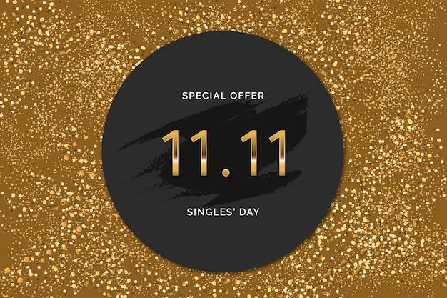 Czarno-złoty dzień singli z chin