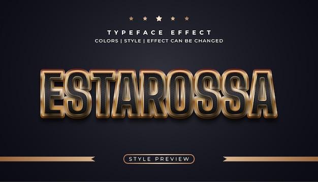 Czarno-złoty efekt tekstowy z efektownym