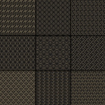 Czarno-złoty wzór geometryczny
