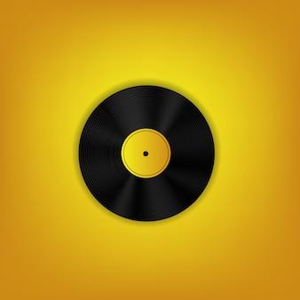 Czarno-żółta płyta winylowa