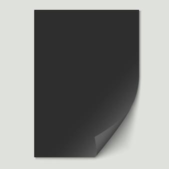 Czarny arkusz papieru