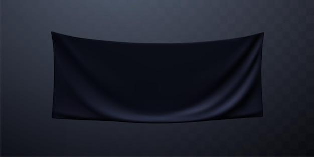 Czarny baner tekstylny