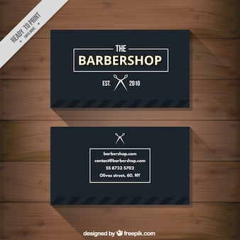 Czarny barbershop wizytówka