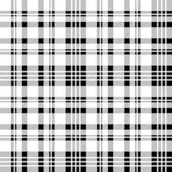 Czarny biały kratka kratka wzór