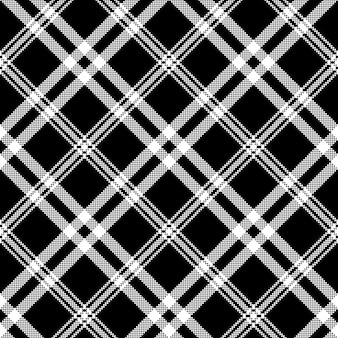 Czarny biały prosty czek kratę wzór
