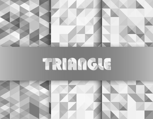 Czarny biały trójkąt wzór modny minimalistyczny design. bezszwowe tło trójkąta.
